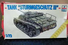 ESCI 1/72 GERMAN STURMGESCHUTZ III TANK WITH FIGURE MODEL KIT BOXED ERTL