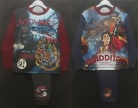 HARRY POTTER Boy's Pyjamas / HOGWARTS PJs in 2 Style Choices - Sizes 5-12 years