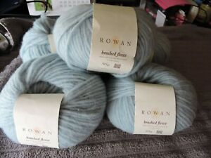 Rowan 5 x 50g balls of brushed fleece Knitting Wool (pale blue)