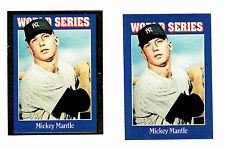 1992 (Oct) Sports Cards Progressive Proof Pair, #149, NY Yankees' Mickey Mantle
