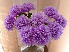 10  x Chrysanthemen  flieder  Länge  45 cm  Kunstblumen -Seidenblumen