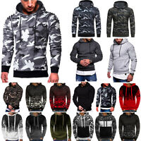 Men's Hoodie Winter Hooded Sweatshirt Jacket Coat Pullover Sweater Outwear Tops