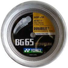 YONEX BG65Ti 200M COIL BADMINTON RACKET STRING WHITE COLOUR
