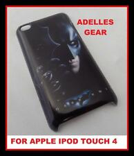 FOR APPLE IPOD TOUCH 4 -BATMAN  HERO -HARD BACK CASE COVER-SCREEN PRO & CLOTH