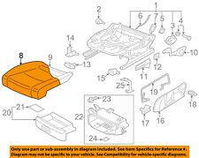 VW VOLKSWAGEN OEM 10-14 GTI Front Seat-Cushion Bottom Cover Left 5K0881405AQUFH
