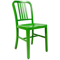 Aluminum 1940s 'Navy' Style Green Dining Chair Anodized Finish In/Outdoor 8 Lbs!