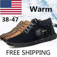 Men's Oxford Leather Casual Shoes Moccasin-gommino Driving Brushed Warm Winter