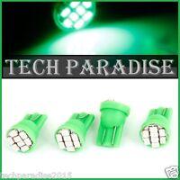 2x Ampoule T10 / W5W / W3W LED 8 SMD 1206 Vert Green veilleuse lampe light 12V