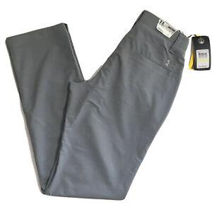 Under Armour Gray Match Play Golf Pants 30x34 Straight Leg Flat Front