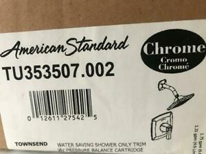 American Standard TU353.507.002 Townsend Chrome White Shower Only Trim Package