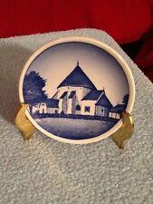 "Royal Copenhagen 3 1/4"" Mini Plate ""Osterlars Kirke Bornholm"" 2010"