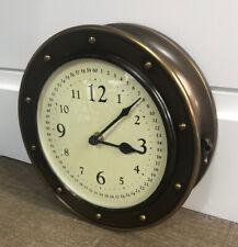 Brass Nautical Clock RH Baby Child