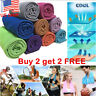 US! Instant Ice Cooling Towel Reusable Chill forRunning Workout Fitness Gym Yoga