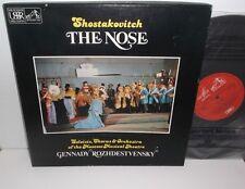 SLS 5088 Shostakovich The Nose Moscow Musical Theatre Rozhdestvensky 2LP Box Set