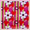 BonEful Fabric FQ Cotton Quilt Red Pink White Green HEART Flower Girl Stripe Dot