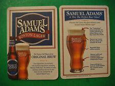 2009 Beer Brewery Coaster ~*~ SAMUEL ADAMS Boston Lager ~ The Perfect Beer Glas