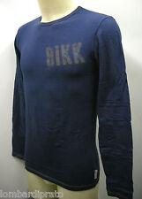 T-shirt maglia girocollo uomo sweater BIKKEMBERGS P704 T59 T.XL 3100 blu