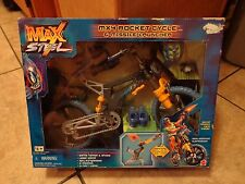 1999 MATTEL--MAX STEEL--MX4 ROCKET CYCLE & MISSILE LAUNCHER (NEW)