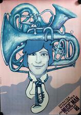 Konzertplakat Jazz A1 POLEN GEROLLT Music Man Willson Trompete Zmidzinski
