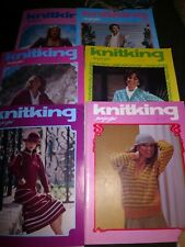 LOT OF 6 KNITKING MAGAZINES 1979 VOL 14 and 15 KNITTING VINTAGE