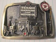 "CS8111 HERITAGE BELT BUCKLE ""TEXACO GASOLINE & MOTOR OIL "" GAS STATION"