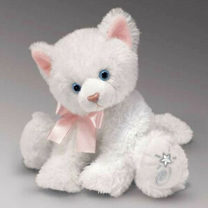 Shining Stars White Cat Plush Soft Toy Russ Berrie Collectible New w/ Tags