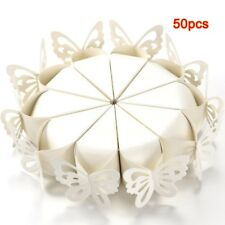 50 Pcs Butterfly Favor Gift Candy Boxes Cake Style for Wedding Baby Shower Q4F3
