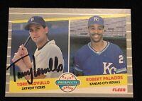 TOREY LOVULLO 1989 FLEER PROSPECTS Autograph Signed AUTO Baseball Card 648 TIGER