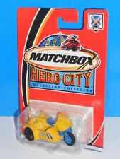 Matchbox 2002-03 Hero City Police Squad #28 Police Motorcycle w/ Sidecar Yellow
