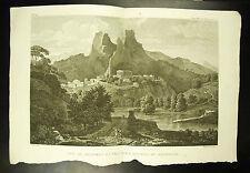 Vue de Delphes et les deux roches du Parnasse c 1790 Bourgeois Del Pillement sc