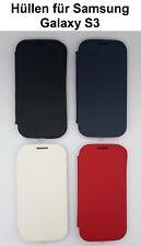 Handyhülle Samsung Galaxy S3 Flip Cover Schutzhülle Etui avecrabat