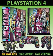 PS4 Skin Monster High Vampire Werewolf Mummy Sticker + Pad decal Vinyl STOOD