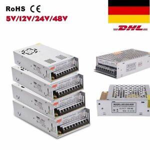 DC 5V 12V 24V 36V 48V  LED Netzteil Trafo Schaltnetzteil Adapter Power Supply