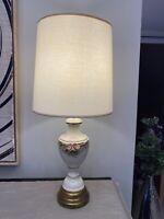 Large Vintage Barrel Drum Linen Lamp Shade Mid Century Modern MCM