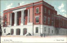 McAlester OK Masonic Temple c1910 Postcard rpx