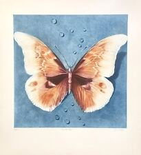 "Ltd. Ed. Mezzotint, ""Butterfly"" Hand Signed by G.H. Rothe"
