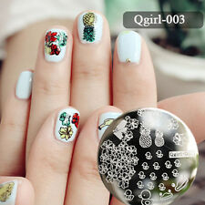 Nail Art Stamping Plate Image Stamp Template Duck Pineapple Flower #Qgirl-003