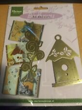 BIRDHOUSE TEMPLATE MARIANNE DESIGN EMBOS-BROIDERY-CUT10X5 /8X2 CM NEW (J42)