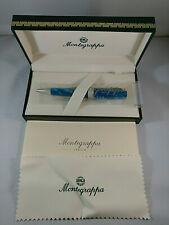 Montegrappa Classic Ballpoint Pen Blue with 925 Silver trims
