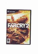 FAR CRY 2 - PC GAME - FAST POST - ORIGINAL & COMPLETE WITH MANUAL & MAP