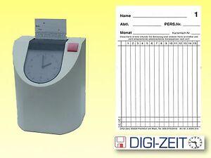 Stempelkarten grafisch 106x180mm für Stempeluhr PERFECT 2010   je Pack 100 Stück