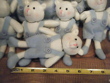 Lot of 73 Overalls Bears Favors Gifts HAPPY BIRTHDAY PARTY Clip-on Plush Stuffed
