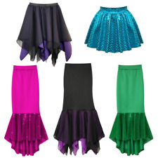 Womens HALLOWEEN Costumes Fancy URSULA Little Mermaid SEA WITCH Skirt UK
