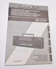 Sharp WF-372H - Bedienungsanleitung