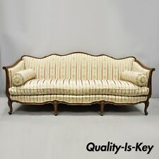 New listing Early 20th C. French Louis Xv Provincial Style Sofa with Serpentine Carved Back