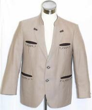"""BROWN ~ WOOL Men German Hunting Shooting Western Sport Dress Suit JACKET / 45"""" L"""
