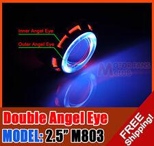 "2.5"" M803 Motorrad HID BI-Xenon Proiettore Linle Kit + Angel Devil Eye H1 H4 H7"