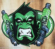 Monkey Sparkplug Oldschool Aufkleber Hotrod Sticker Rockabilly Autoaufkleber USA
