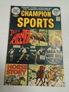 DC Comics CHAMPION SPORTS #3 (1974) Joe Simon Writer, Sports