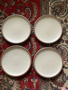 East Fork Pottery Dinner Plates Panna Cotta Seconds Set of 4